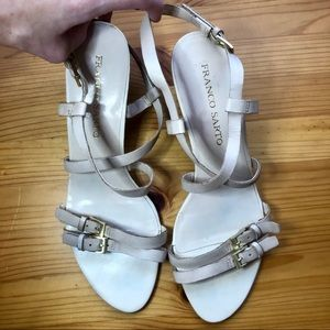 Franco Sarto wedge buckle heel - 9 1/2 M - leather